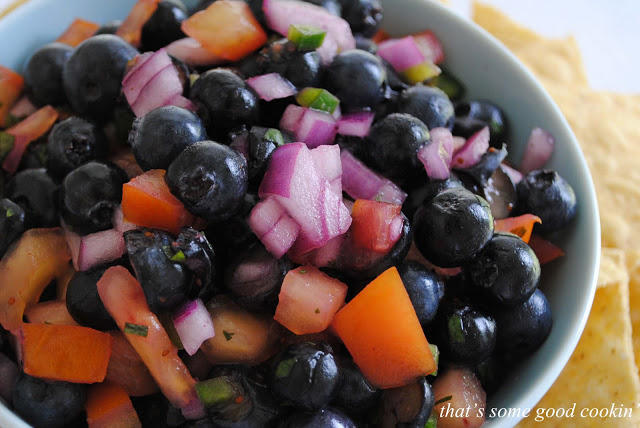 Minted Blueberry Salsa