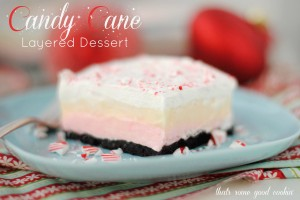 Candy Cane Layered Dessert