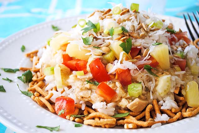 Hawaiian Haystacks {Thai-style}