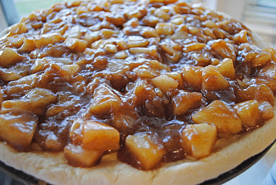 Gruyere Apple-Pear Dessert Pizza