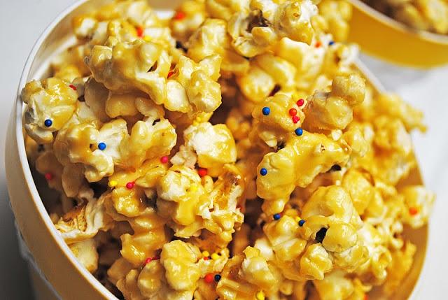 Cake Batter Caramel Popcorn