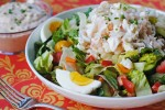 Crab and Shrimp Chopped Salad with Thousand Island Dressing
