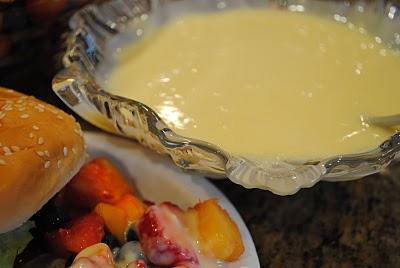 Lemon Sauce for Fruit
