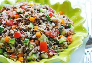 Lentil, Quinoa and Orzo Salad