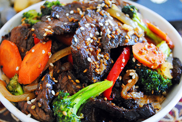 Teriyaki Beef and Rice Bowls