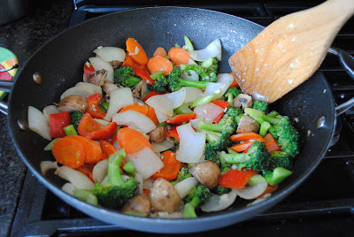 Garlic-Ginger Chicken and Vegetables Stir Fry