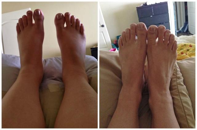 Tricia's feet