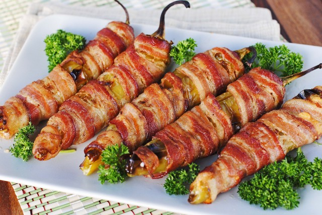 Bacon-wrapped Stuffed Anaheim Peppers 473