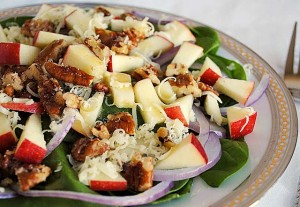 Spinach-Apple Salad with Maple Vinaigrette