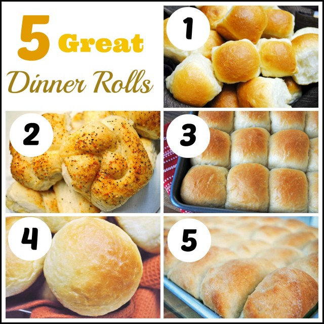 5 Great Dinner Rolls