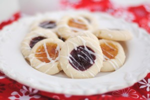 Almond Shortbread Thumbrpint Cookies with Raspberry Jam