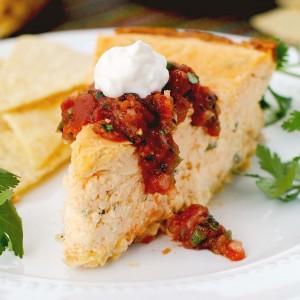 Savory Baked Salsa Cheesecake