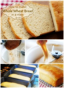 Whole Wheat Bread in a Mixer