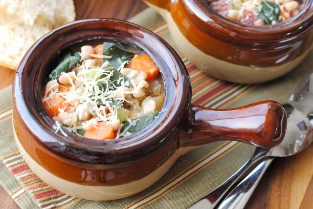 Navy Bean and Collard Soup