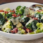 Broccoli with Cheese Sauce & Pancetta