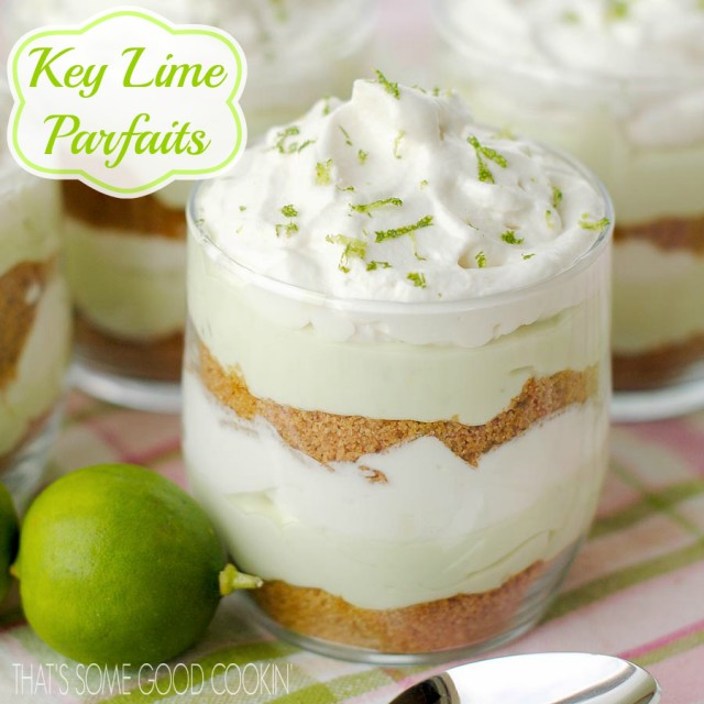 Key Lime Parfaits--They're like a double decker key lime pie!