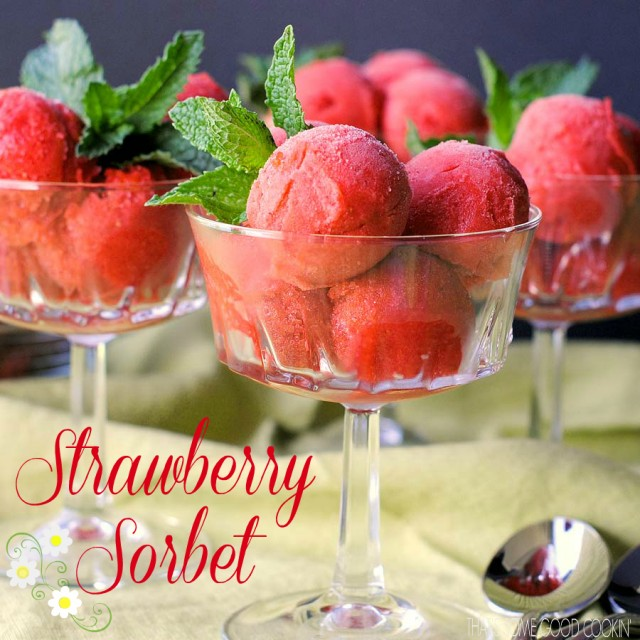 Strawberry Sorbet Recipe — Dishmaps