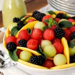 Watermelon Fruit Salad with Honey-Mint Vinaigrette