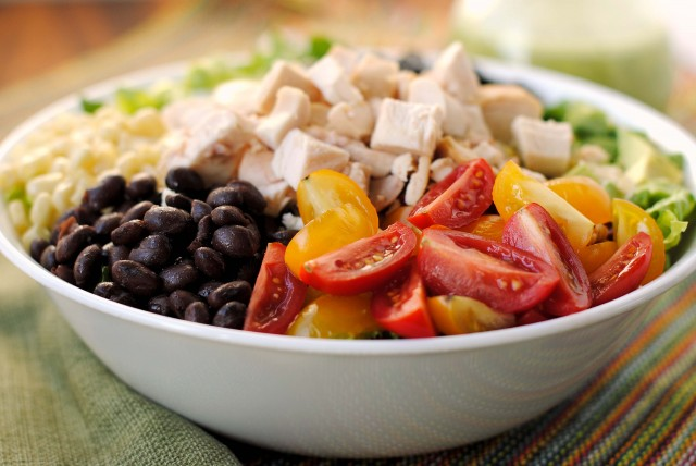 Southwestern Chicken Chopped Salad with Cilantro-Lime Vinaigrette