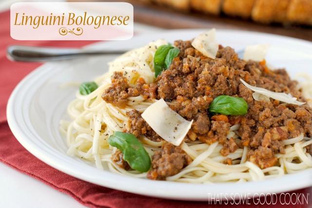 Linguini Bolognese--a classic Italian dish