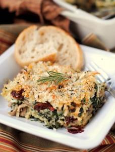 Chicken-Spinach Ravioli Casserole