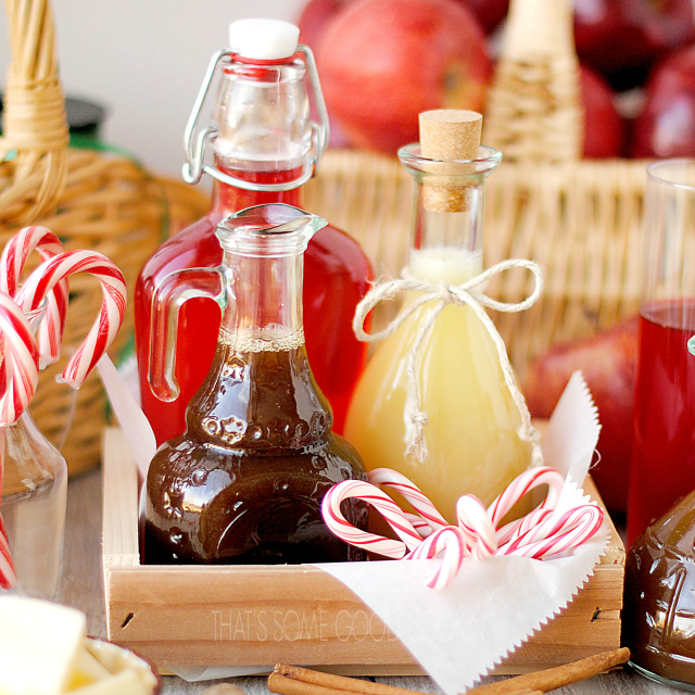 Apple Pie Syrup, Peppermint Candy Cane Syrup and Buttermilk Syrup