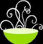 Bowl with steam balanced transparent
