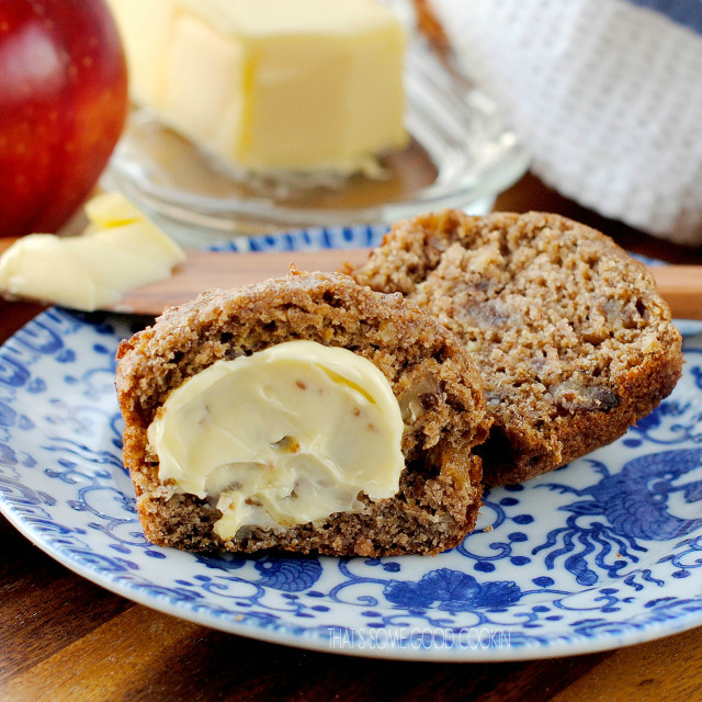 Date and Apple Honey Bran Muffins | That's Some Good Cookin'