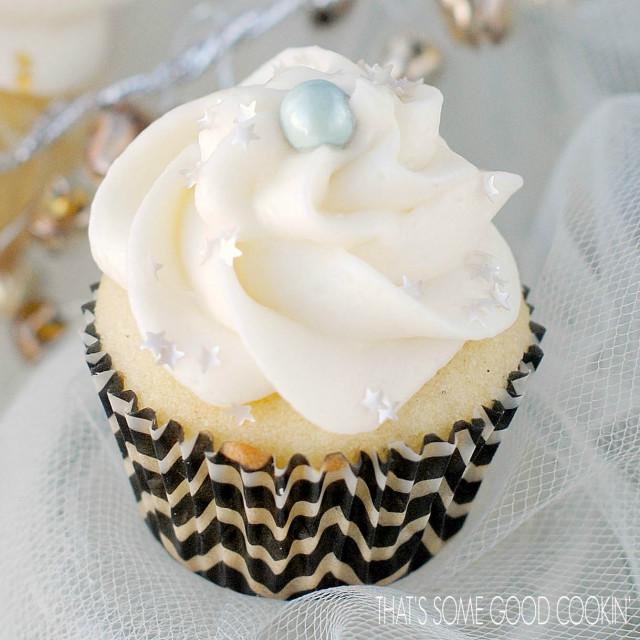 Golden Vanilla Bean Cupcakes