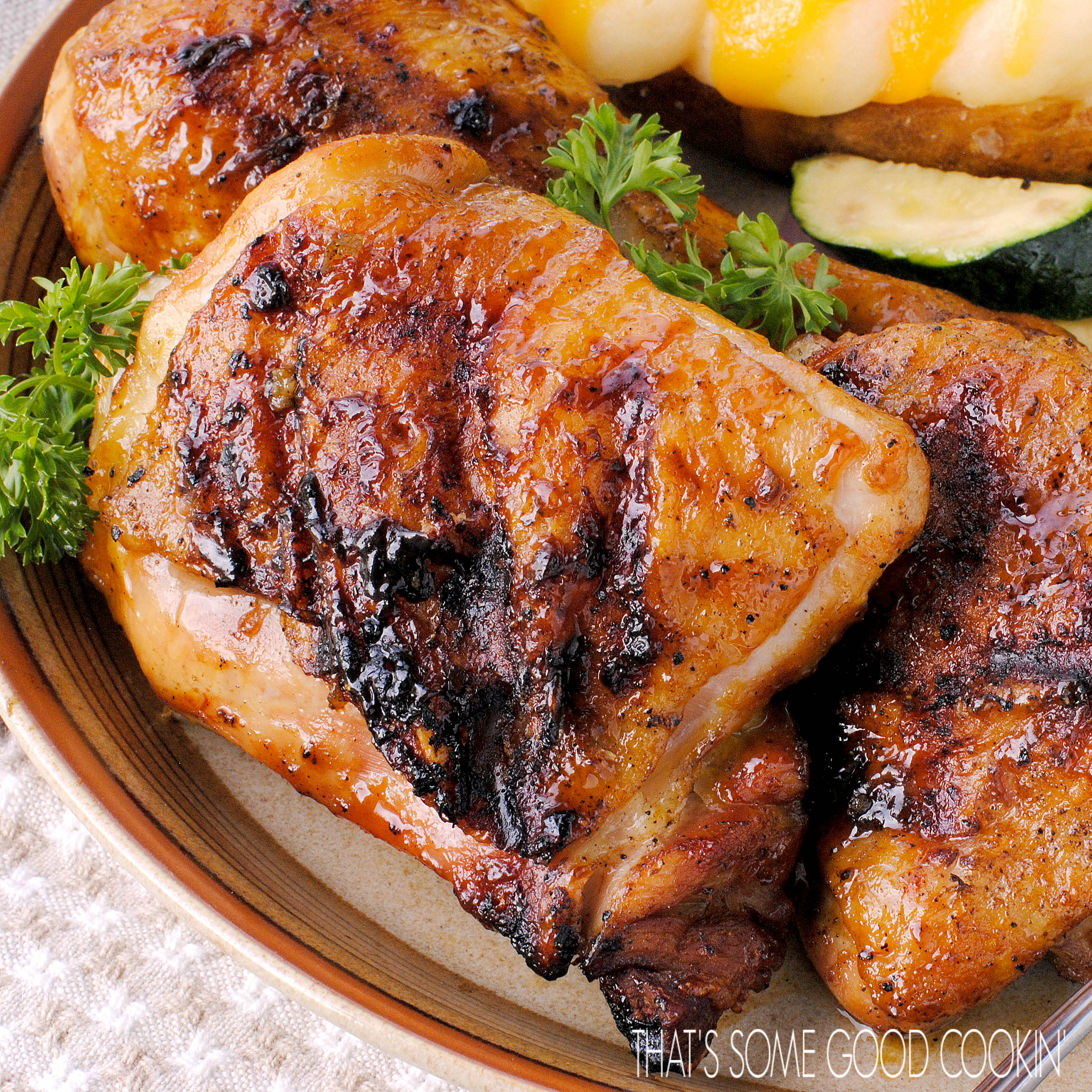 Spicy Brown Sugar and Mustard Grilled Chicken
